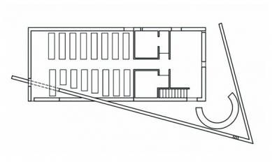 Nědělní škola - Půdorys přízemí - foto: Tadao Ando Architects & Associates