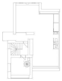 Rekonstrukce a přístavba rodinného domu na Smíchově - Půdorys 3.np - foto: ROHÁČ STRATIL architektonický ateliér