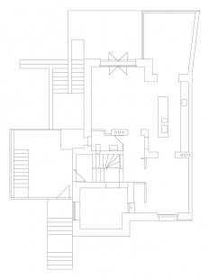 Rekonstrukce a přístavba rodinného domu na Smíchově - Půdorys 1.np - foto: ROHÁČ STRATIL architektonický ateliér