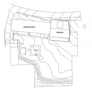 Přístavba základní školy v Hradištku - Situace - foto: Architektura s.r.o.