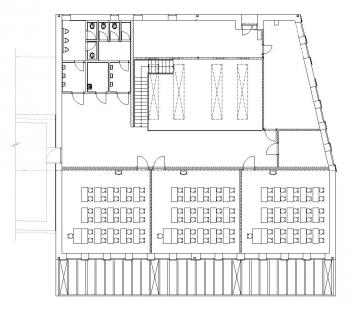 Přístavba základní školy v Hradištku - Půdorys - foto: Architektura s.r.o.