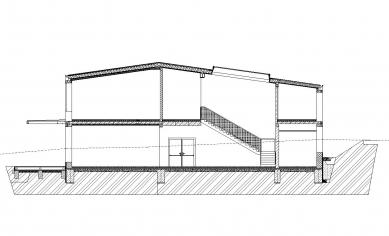Přístavba základní školy v Hradištku - Řez - foto: Architektura s.r.o.