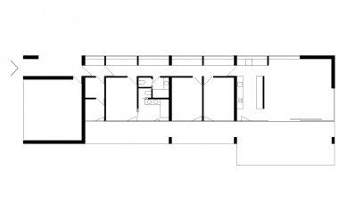 Dům v betonu - Půdorys - foto: ARCHTEAM
