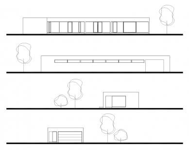 Dům v betonu - Pohledy J, S, V, Z - foto: ARCHTEAM