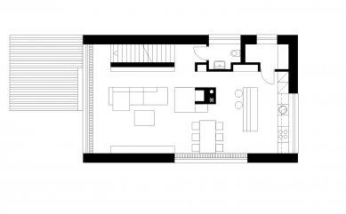 Rodinný dům na Točné - Půdorys 1NP - foto: VYŠEHRAD atelier