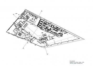 Sídlo časopisu Spiegel - Půdorys přízemí - foto: Henning Larsen Architects