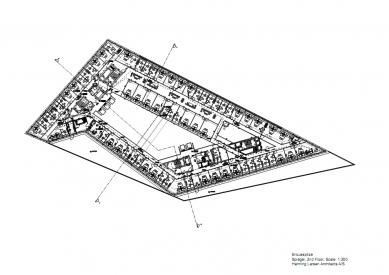 Sídlo časopisu Spiegel - Půdorys 2.np - foto: Henning Larsen Architects