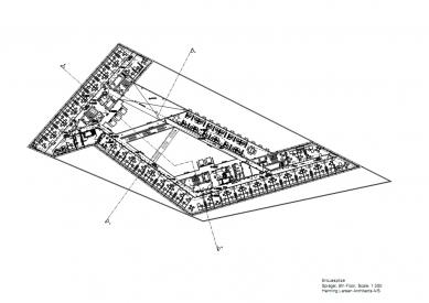 Sídlo časopisu Spiegel - Půdorys 6.np - foto: Henning Larsen Architects