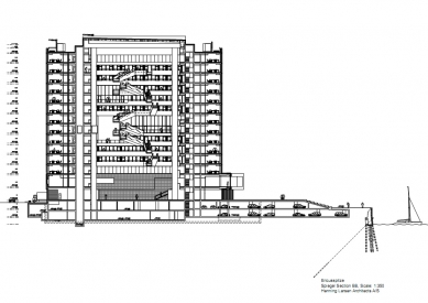 Sídlo časopisu Spiegel - Řez - foto: Henning Larsen Architects