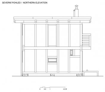 První dům - Severní pohled - foto: Ondřej Pleštil
