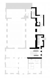 Kulturní dům Na Rybníčku v Opavě - Půdorys mezipatra