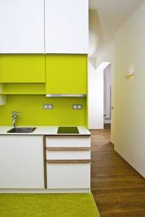 Rekonstrukce bytového domu v Litomyšli - Zelený byt - foto: Nikola Tláskalová