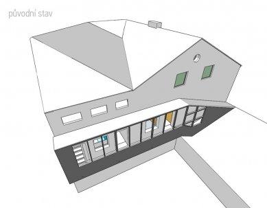 Rekonstrukce bytového domu v Litomyšli - Původní schéma