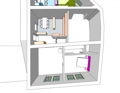 Rekonstrukce bytového domu v Litomyšli - Červený