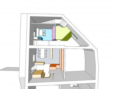 Rekonstrukce bytového domu v Litomyšli - Zelený