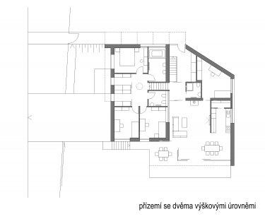 Rodinný dům v Novém Městě nad Metují 1601 - Půdorys 1NP - foto: Lubomír Dědek