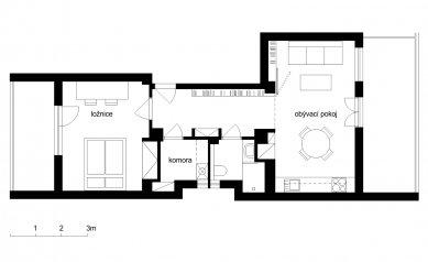 Interiér bytu v Holešovicích - Půdorys - návrh - foto: Martin Neruda, Jana Šťastná