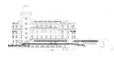 Palác Urania - Severní pohled - foto: archiv redakce