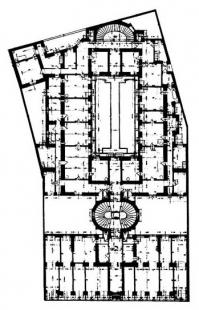 Budova Portoix & Fix - Původní půdorys s továrnou ve dvoře - foto: archiv redakce