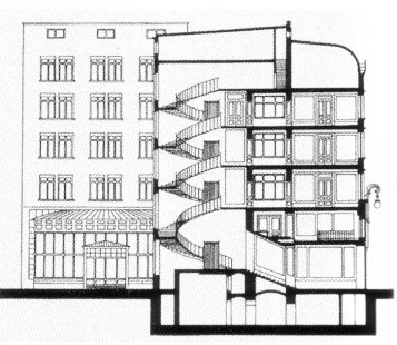 Budova Portoix & Fix - Řez - foto: archiv redakce