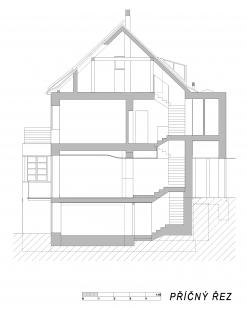 Rodinný dům v Blatovské ulici - Řez