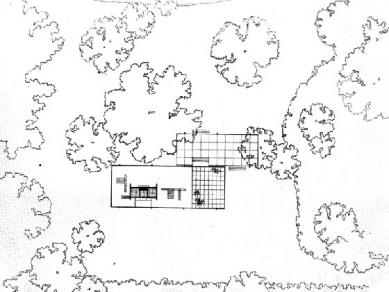 Edith Farnsworth House - Situce (nohoře je vidět kousek protékající Fox River) - foto: © Friends of he Farnsworth House