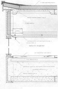 Edith Farnsworth House - Detailní řez konstrukcí - foto: © Friends of he Farnsworth House