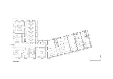 Centrum umění Kvilda - Půdorys přízemí - foto: Atelier25