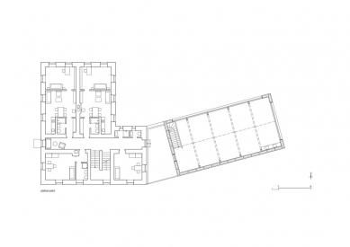 Centrum umění Kvilda - Půdorys 1.np - foto: Atelier25