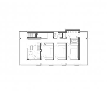 Bambusový dům - Půdorys 2NP - foto: Atelier Štěpán