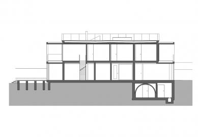 Bambusový dům - Podélný řez - foto: Atelier Štěpán
