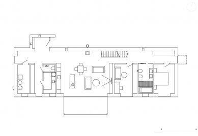 Rodinný dům V Lukách - Půdorys přízemí - foto: Atelier25