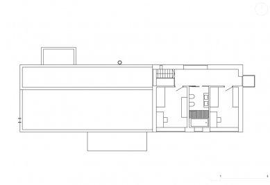 Rodinný dům V Lukách - Půdorys patra - foto: Atelier25