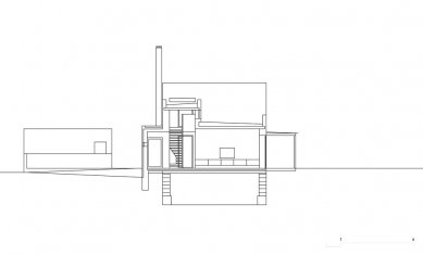 Rodinný dům V Lukách - Příčný řez - foto: Atelier25