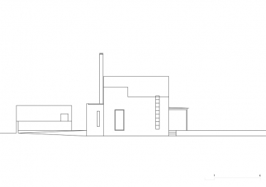 Rodinný dům V Lukách - Boční pohled - foto: Atelier25