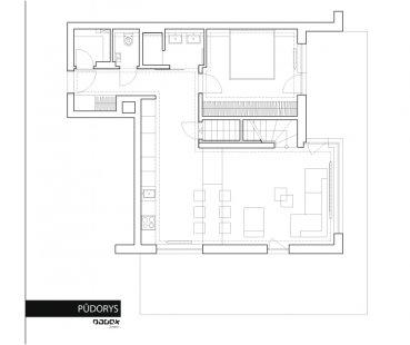 Interiér bytu Na Hvězdárně 2