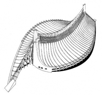 Olympijské haly - Axonometrie
