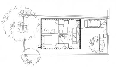 Zapadlý dům - Půdorys přízemí - foto: Courtesy of Adjaye Assocates