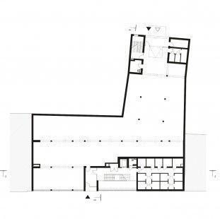 Bytový dům Prostějov 02 - Půdorys 1NP - foto: knesl + kynčl architekti