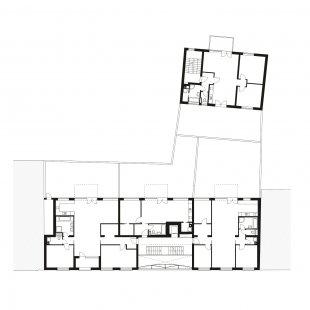 Bytový dům Prostějov 02 - Půdorys 2NP - foto: knesl + kynčl architekti