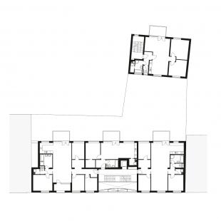 Bytový dům Prostějov 02 - Půdorys 3NP - foto: knesl + kynčl architekti