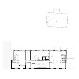 Bytový dům Prostějov 02 - Půdorys 5NP - foto: knesl + kynčl architekti