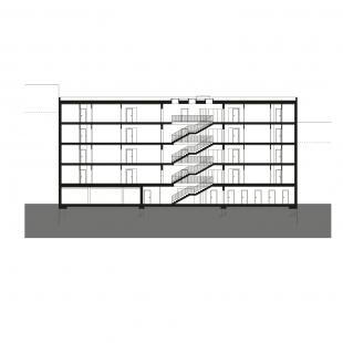 Bytový dům Prostějov 02 - Řez A - foto: knesl + kynčl architekti
