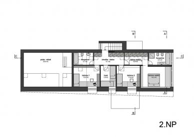 Rodinný dům vHradištku - Půdorys 2. NP