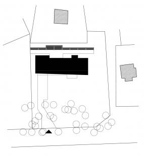 Rodinný dům vHradištku - Situace
