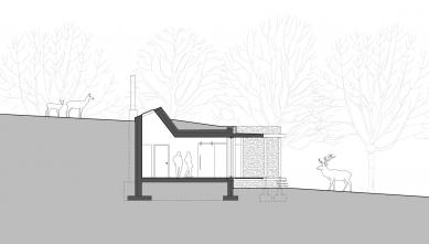 Lovecká chata v oboře - Řez