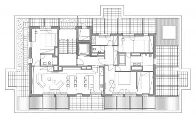 DOCK A - Půdorys penthouse