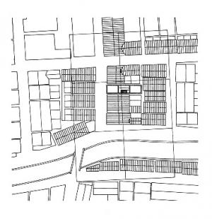 Azuma House - Situace - foto: Tadao Ando Architects & Associates