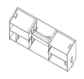 Azuma House - Axonometrie - foto: Tadao Ando Architects & Associates