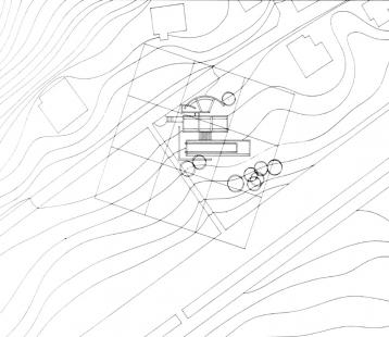 Koshino House - Situace - foto: Tadao Ando Architects & Associates